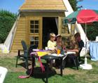 Strand vakantiebungalows op bungalowparken Zeeland